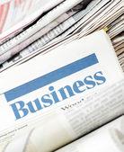 El periódico de negocios — Foto de Stock