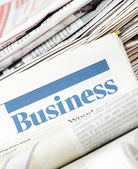 The business newspaper — Stock Photo