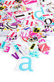 The letters which have been cut out from newspapers — Stock Photo