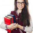 The girl the student with books in hands — Stock Photo #8767651