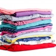 Stock Photo: Heap of pure clothes