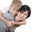 The boy with sister isolated — Stock Photo #8897686