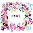 Word NEWS from newspaper letters — Stock Photo #9019091