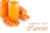 Glass with carrot juice — Stock Photo