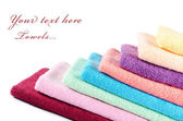Las toallas de color combinado — Foto de Stock