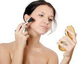 Krásná mladá dívka s přírodní make-up — Stock fotografie