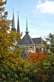Notre Dame cathedral of Luxembourg city — Stock Photo