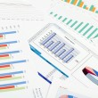 Graphs, charts, business table. The workplace of business — Stock Photo #9351343