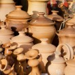 Stok fotoğraf: Clay products - national crafts. Belarus