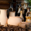Clay products - national crafts. Belarus - Stock Photo