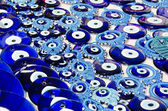 Blue Evil Eye Charms Sold at Bazaar or Market in Turkey — Stock Photo