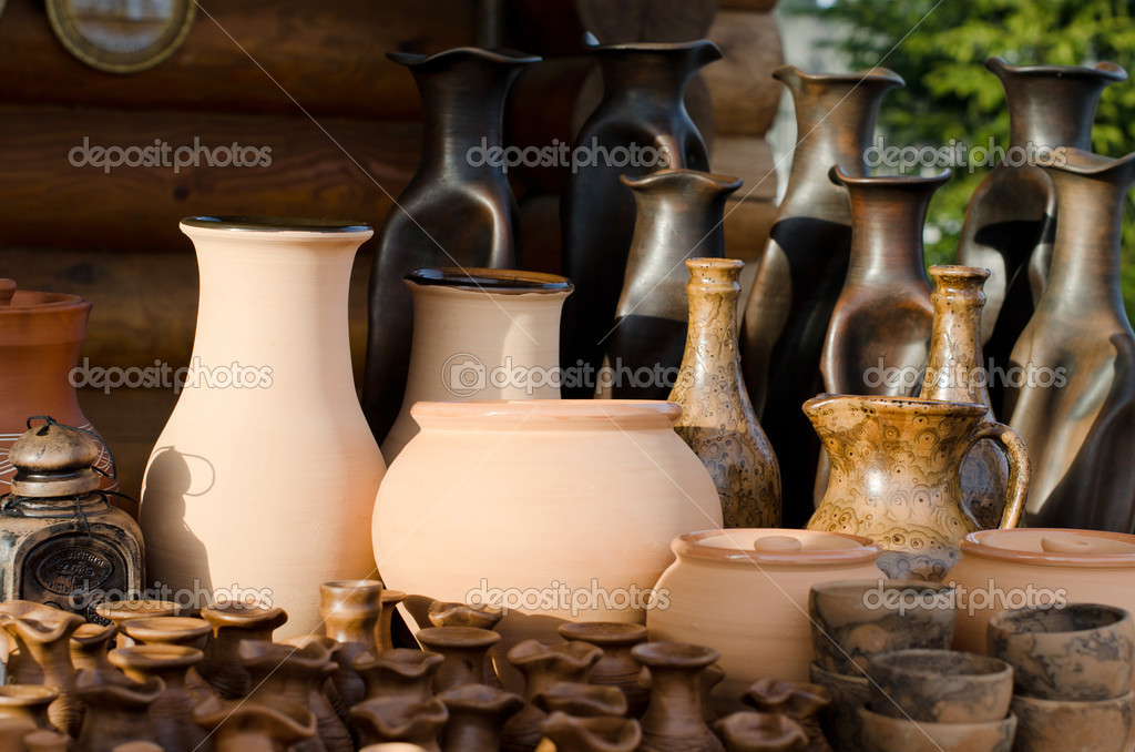 The clay products - national crafts. Belarus  Stock Photo #9486810