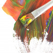 Abstract dabs colour paints - Stock Photo