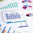 Graphs, charts, business table. The workplace of business — Stock Photo