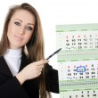 The business woman with a calendar - Stock Photo