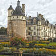 Stock Photo: Chateau and Garden Chenonceau