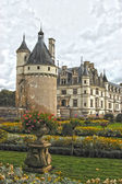 城堡和花园雪浓梭 — 图库照片