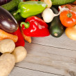 Assortment of fresh vegetables - 图库照片
