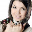The beautiful girl in a scarf, the Moslem - Stock Photo