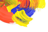 Abstract dabs colour paints — Stock Photo
