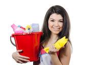 Portrait de la jeune fille - concept nettoyage — Photo