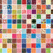 Big collection patterns — Stock Vector
