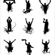 Set of silhouettes for sports championships — Stock Vector