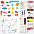 Collection of elements for web design — Stock Vector