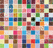 Big collection patterns — Stockvector