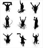 Ensemble de silhouettes pour les championnats de sport — Vecteur