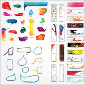Kolekce prvků pro web design — Stock vektor