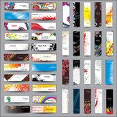 混合收集纵向和横向的横幅 — 图库矢量图片