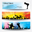 Advertising banners for sports — Stock Vector