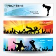 Advertising banners for sports — Stock Vector #9706346