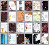 Blanda samling flyers — Stockvektor