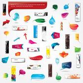Colección de elementos de diseño web — Vector de stock