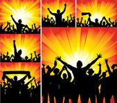 Poster van jongens dansen — Stockvector