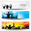 Advertising banners for sports - Stock Vector