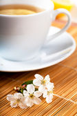 Tea with flower — Stock Photo