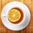 Tea with lemon — Stock Photo