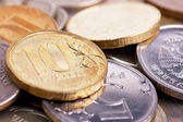 Coins macro — Stock Photo