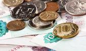 Sedlar och mynt — Stockfoto