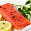 Salmon on a plate — Stock Photo #8986170