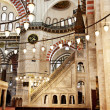 Suleymaniye Mosque Interior - pulpit — Stock Photo