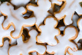 Gingerbread, traditional christmas cookies. Background — Stock Photo
