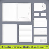 Set of templates corporate identity. vector illustration (eps10) — Stock Vector