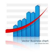 Vector business chart (diagram). Eps10 — Stock Vector
