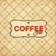 Retro Vintage Coffee Background. — Stock Vector