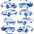 Cars-old-background — Stock Vector #8712453