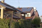 Solar panels on roof — Stock Photo